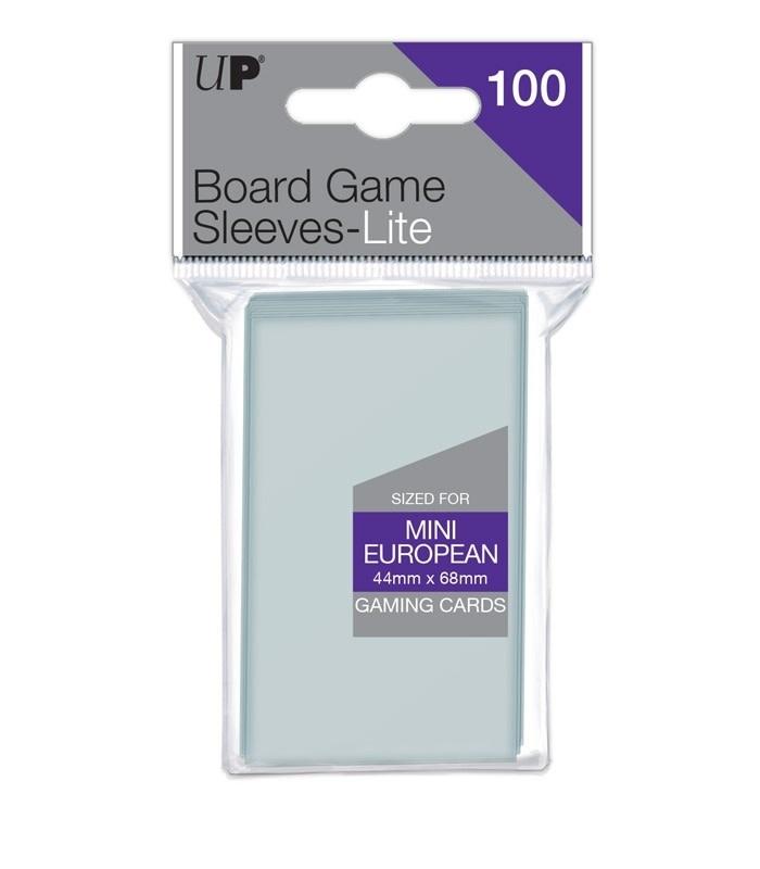 44mm x 68mm Lite Mini European Board Game Sleeves 100ct