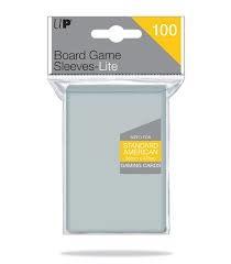 56mm x 87mm Lite Standard American Board Game Sleeves 100ct