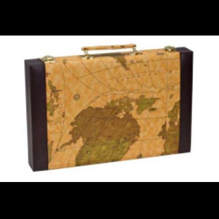 "Backgammon - 15"" Brown Map"