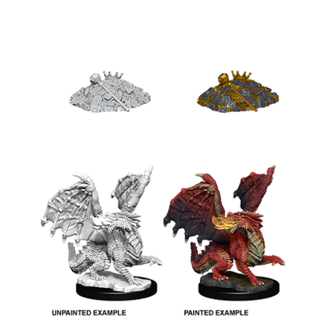 D&D Unpainted Minis - Red Dragon Wyrmling