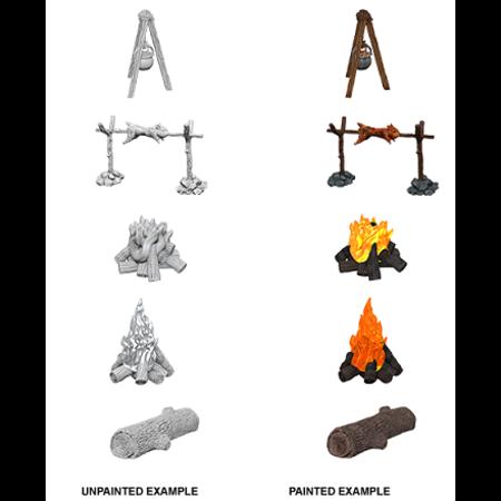 Pathfinder Battles Unpainted Minis - Camp fire/Sitting Log
