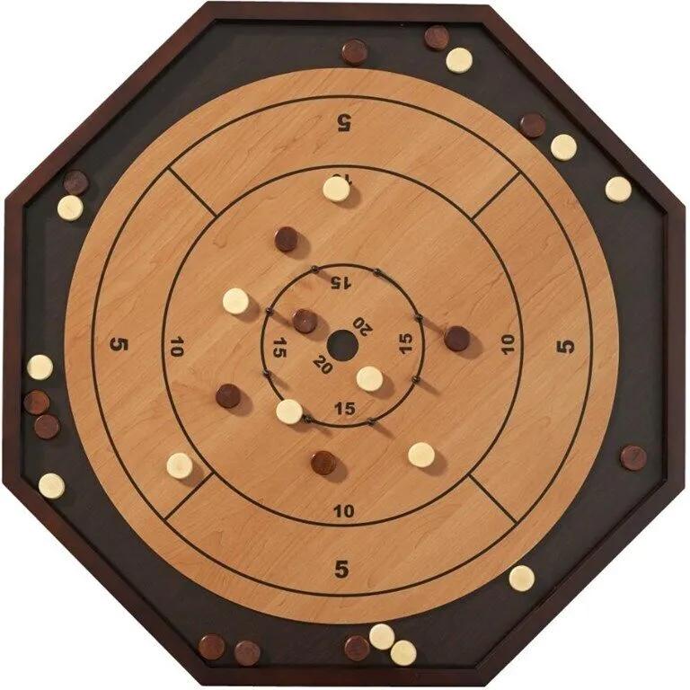 Crokinole Deluxe 3 in 1 (Checkers & Backgammon)