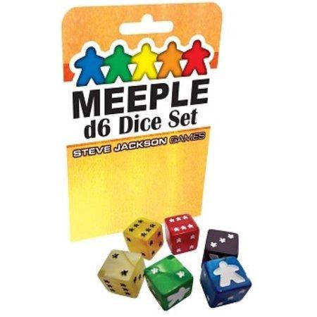Dice Set - Meeple D6 8ct