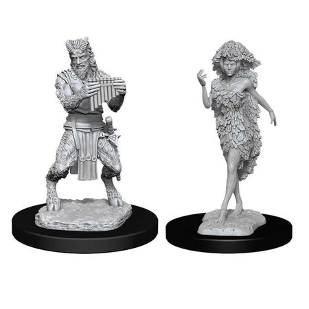D&D Unpainted Mini - Satyr and Dryad
