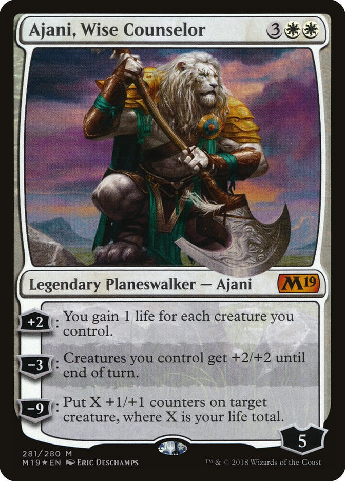 Ajani, Wise Counselor - Foil - Planeswalker Deck Exclusive