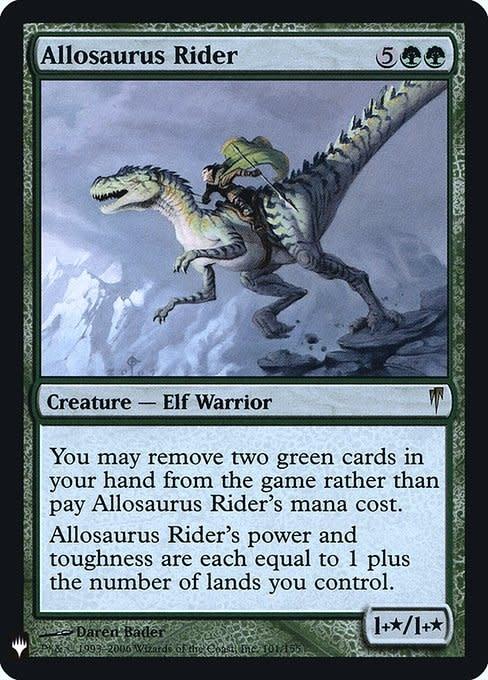 Allosaurus Rider - Foil