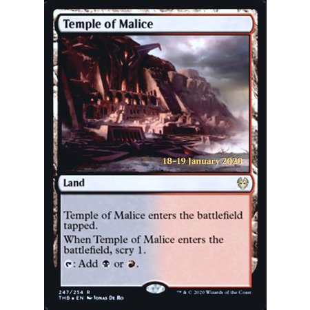 Temple of Malice - Foil - Prerelease Promo