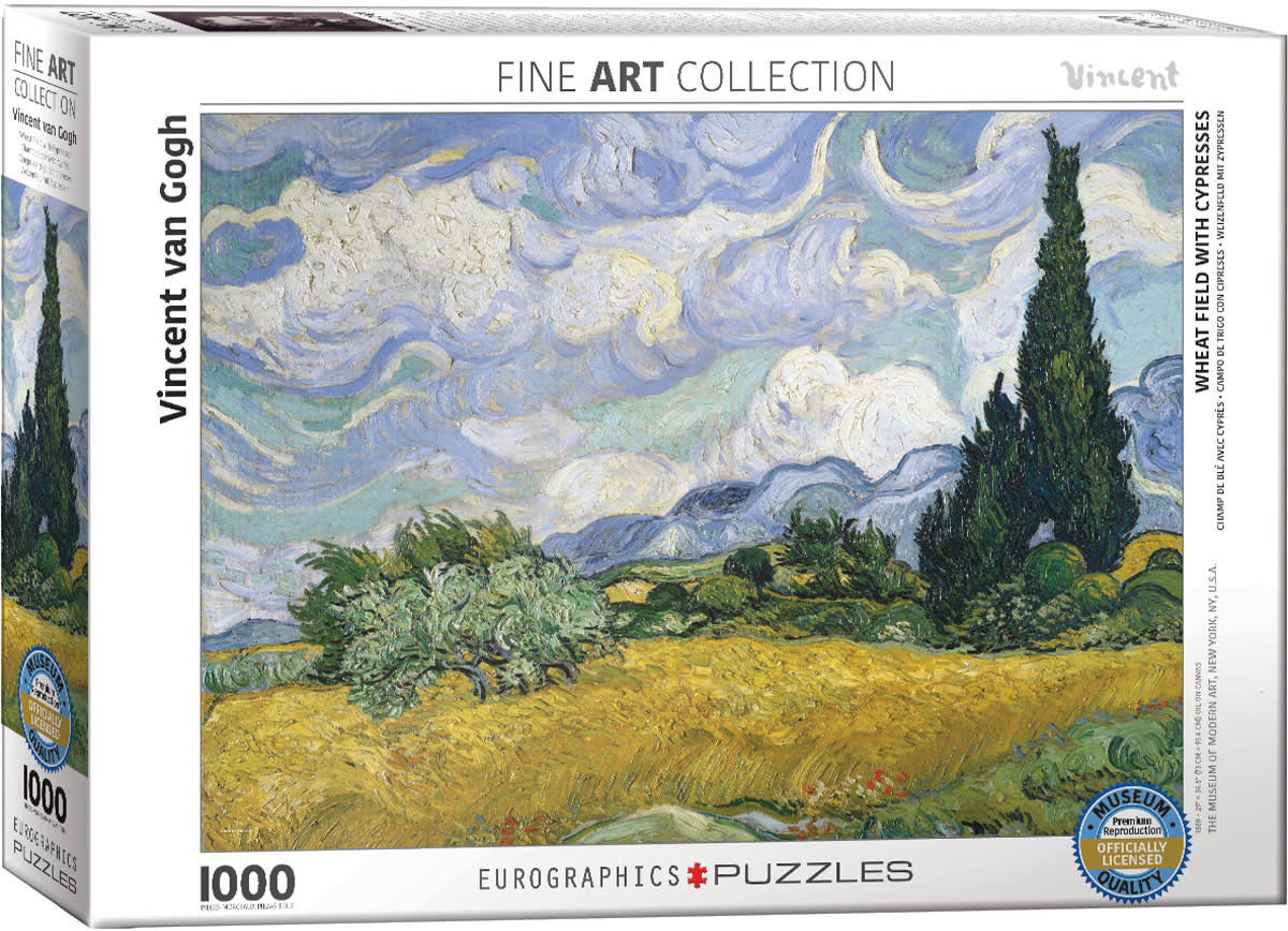 1000 - Wheat Field with Cypresses (Van Gogh)