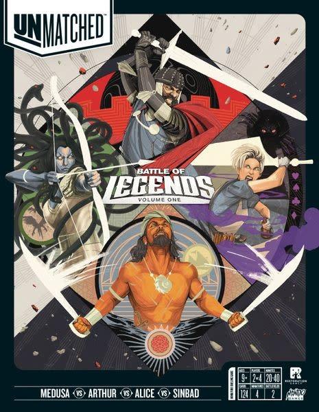 Unmatched: Battle of Legends board game