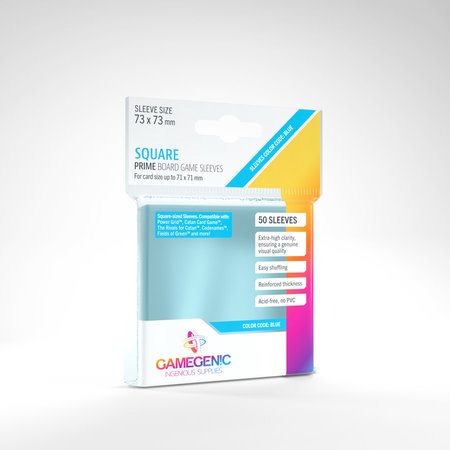 Gamegenic - 73mm X 73mm Square Prime Board Game Sleeves 50 ct.