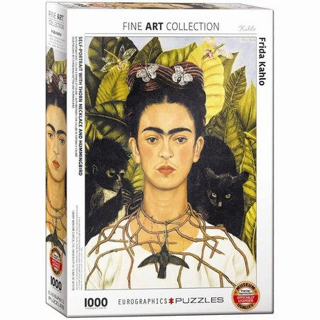 1000 - Self-Portrait with Thorn Necklace (Kahlo)