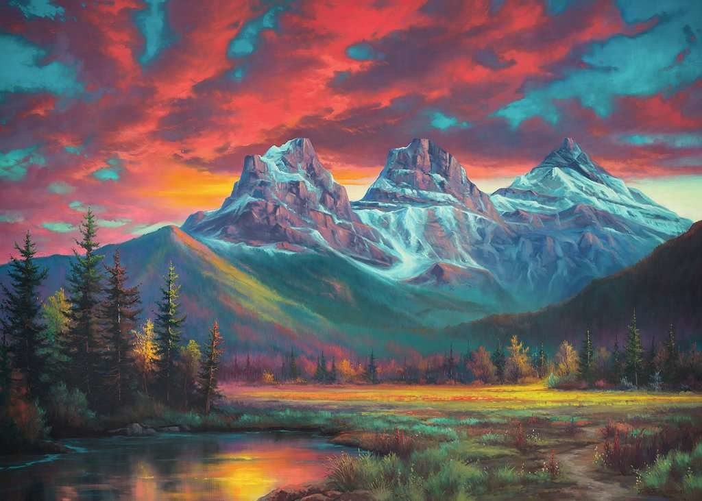 1000 - Canadian Collection - Alberta's Three Sisters