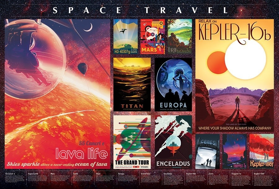 2000 - Space Travel Posters