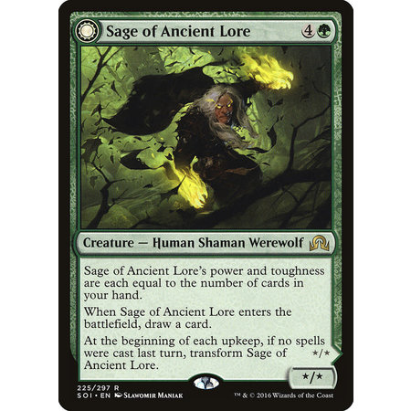 Sage of Ancient Lore // Werewolf of Ancient Hunger