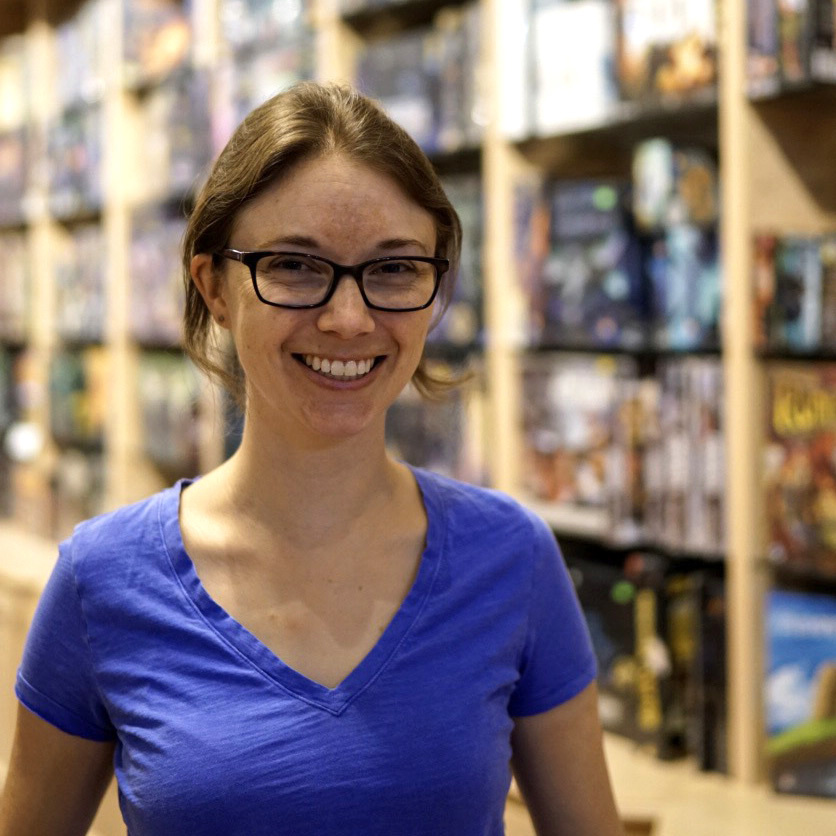 Andrea Robertson, co-owner of Rain City Games