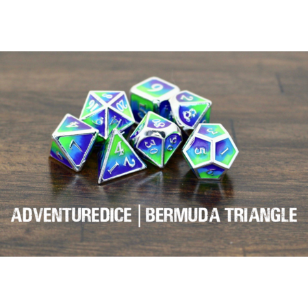Metal RPG Dice Set - Bermuda Triangle