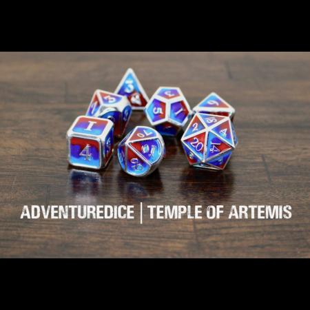 Metal RPG Dice Set - Temple of Artemis