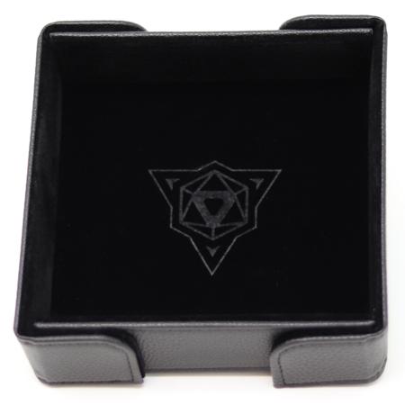 Folding Magnetic Square Dice Tray w/ Black Velvet
