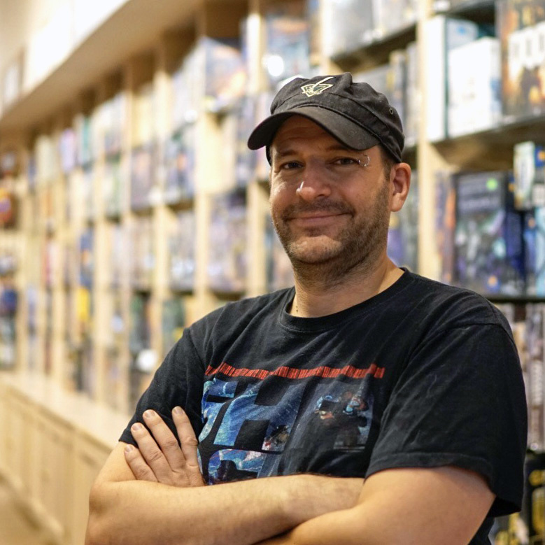 Channing Guenther, co-owner of Rain City Games