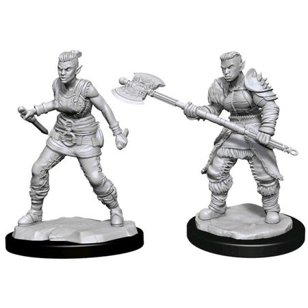 Unpainted Minis - Orc Barbarian (Female)