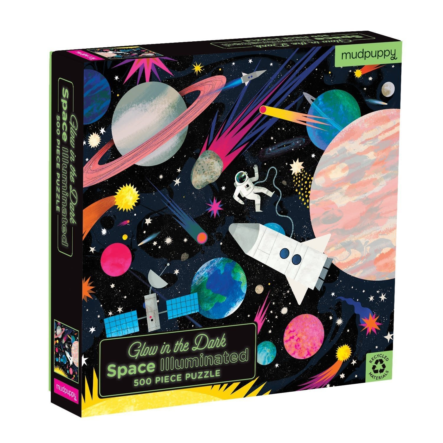 500 -  Space Illuminated Glow in the Dark Family Puzzle