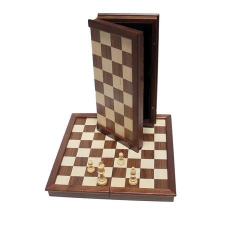 Folding Camphor Wood Chess Set 18-inch