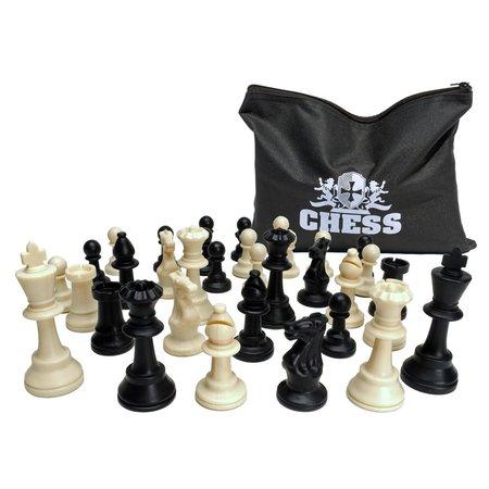 Staunton Chessmen 3 3/4-inch