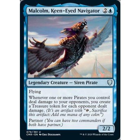 Malcolm, Keen-Eyed Navigator - Foil