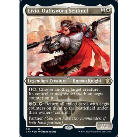 Livio, Oathsworn Sentinel - Foil-Etched