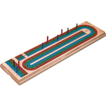 Cribbage Board - Deluxe Solid Wood with Cards