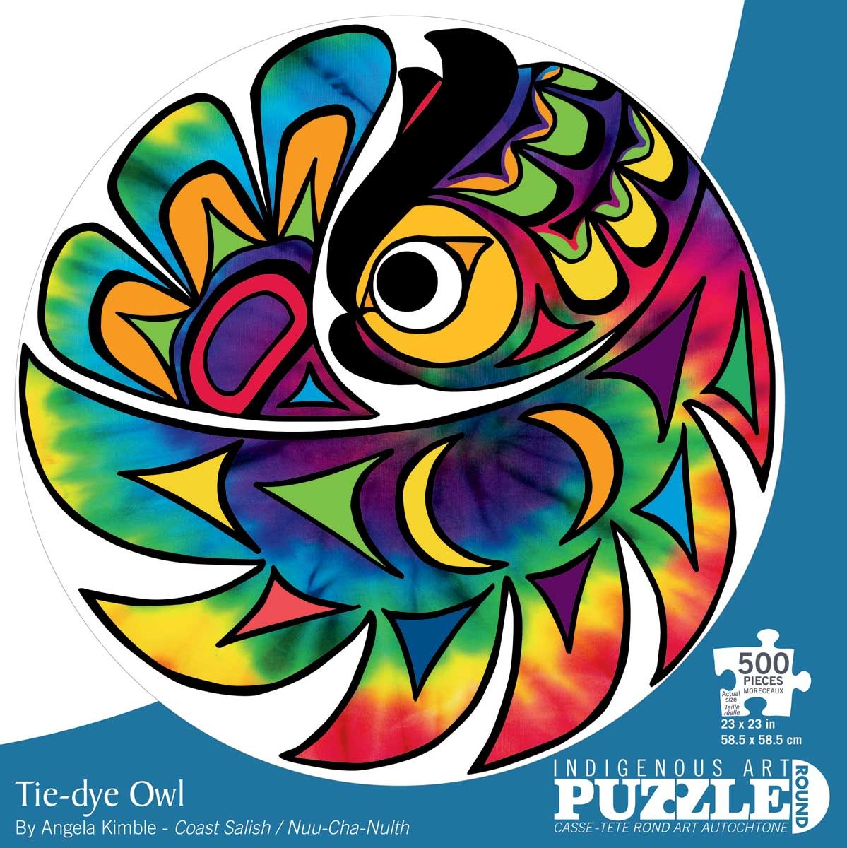 500 - Tie-dye Owl (Angela Kimble)