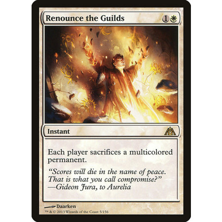 Renounce the Guilds