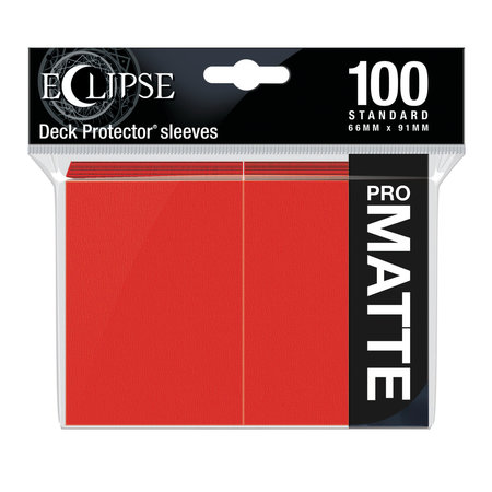 Ultra Pro - 66mm X 91mm - Eclipse Matte Sleeves - Apple Red 100 ct.