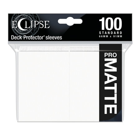 Ultra Pro - 66mm X 91mm - Eclipse Matte Sleeves - Arctic White 100 ct.