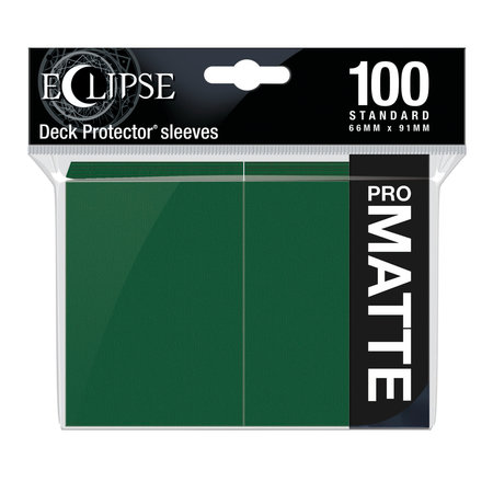 Ultra Pro - 66mm X 91mm - Eclipse Matte Sleeves - Forest Green 100 ct.