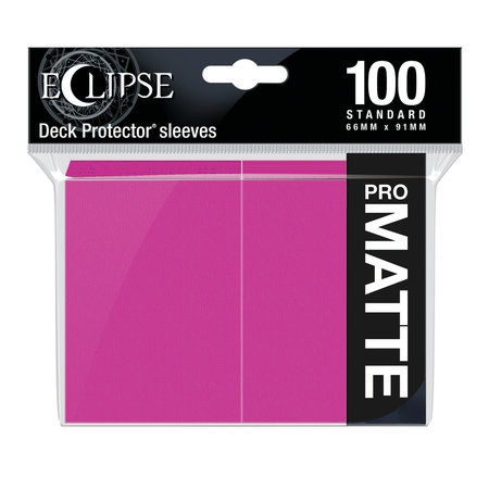 Ultra Pro - 66mm X 91mm - Eclipse Matte Sleeves - Hot Pink 100 ct.