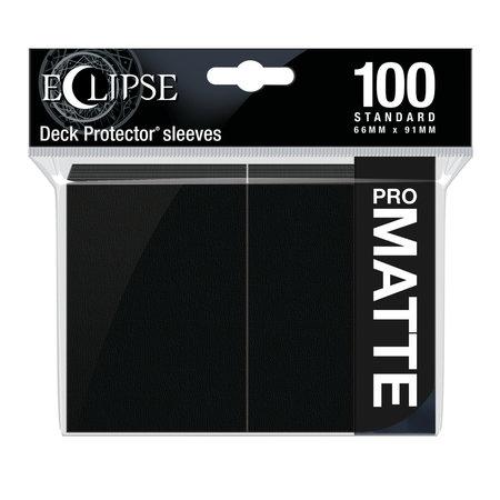 Ultra Pro - 66mm X 91mm - Eclipse Matte Sleeves - Jet Black 100 ct.