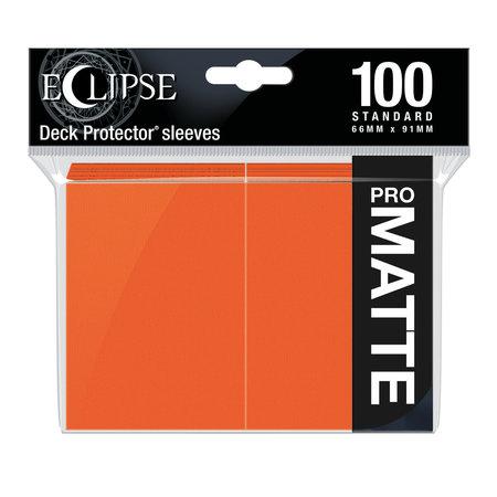 Ultra Pro - 66mm X 91mm - Eclipse Matte Sleeves - Pumpkin Orange 100 ct.