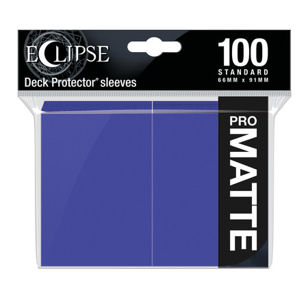 Ultra Pro - 66mm X 91mm - Eclipse Matte Sleeves - Royal Purple 100 ct.