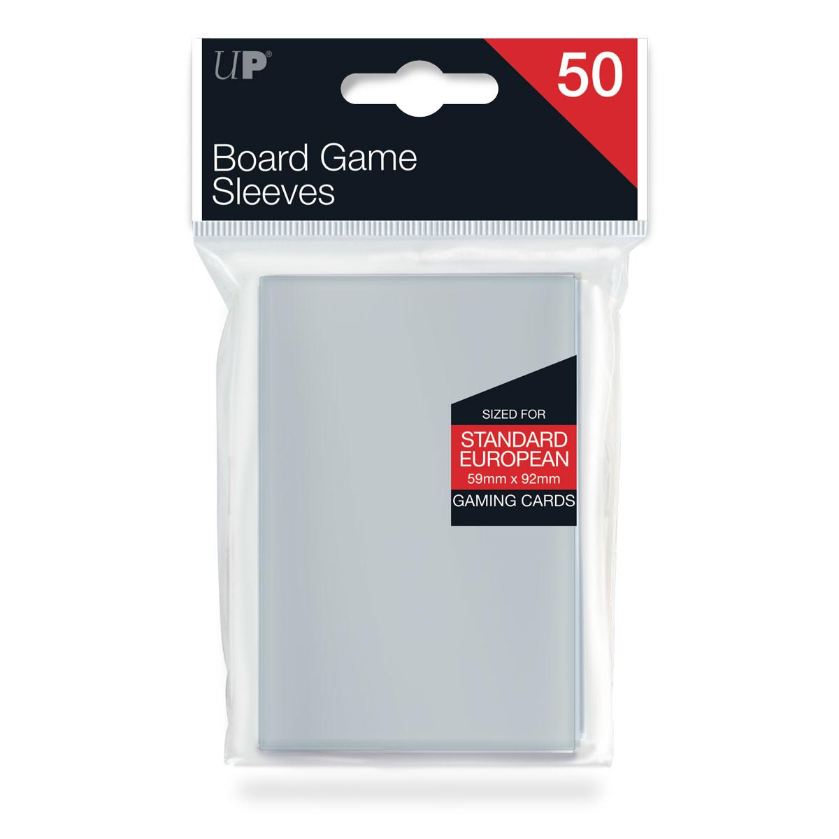 Ultra Pro - 59mm X 92mm Standard European Board Game Sleeves 50 ct.