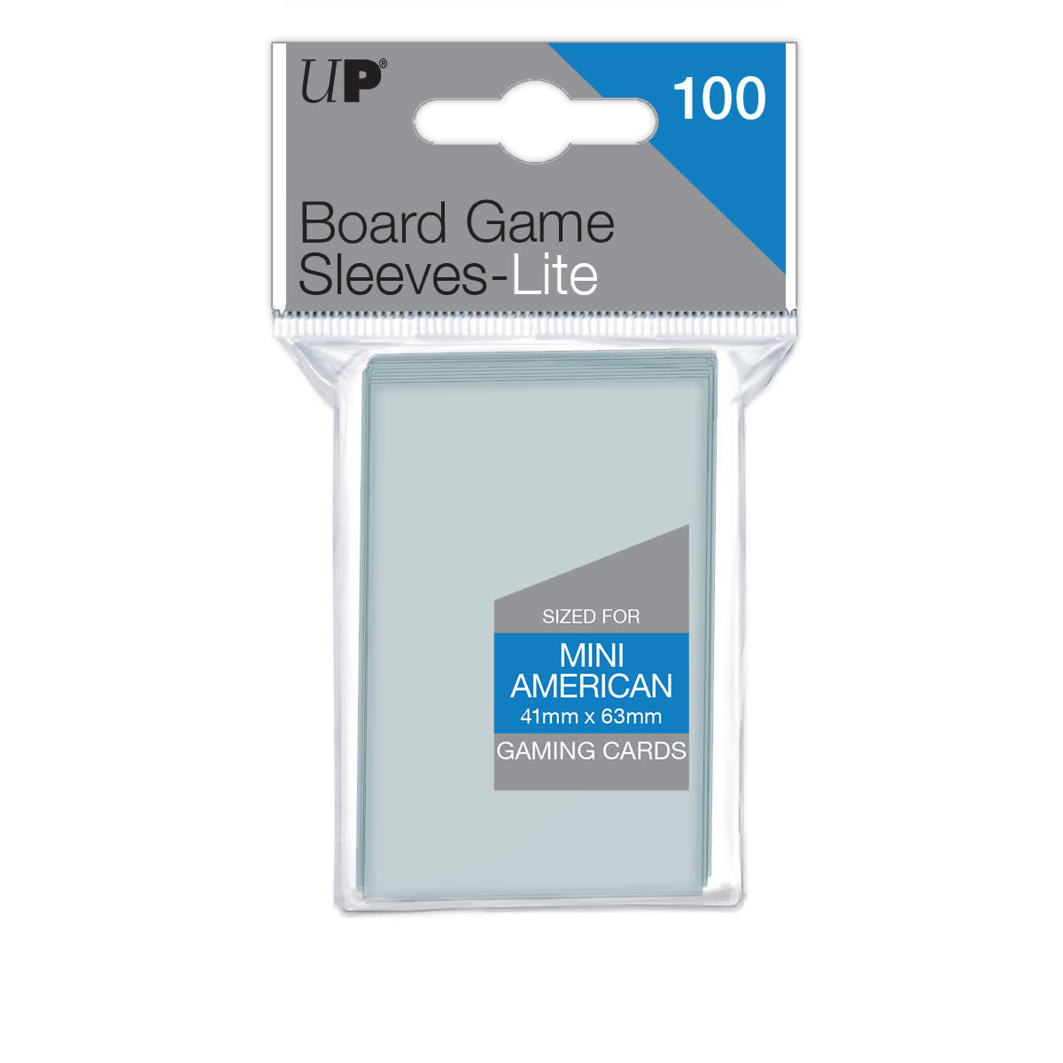 Ultra Pro - 41mm x 63mm Lite Mini American Board Game Sleeves 100 ct.