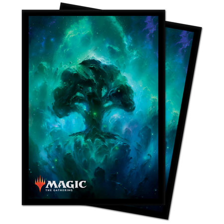 Ultra Pro - 66mm X 91mm - Chroma Fusion MTG Celestial Lands - Forest 100 ct.