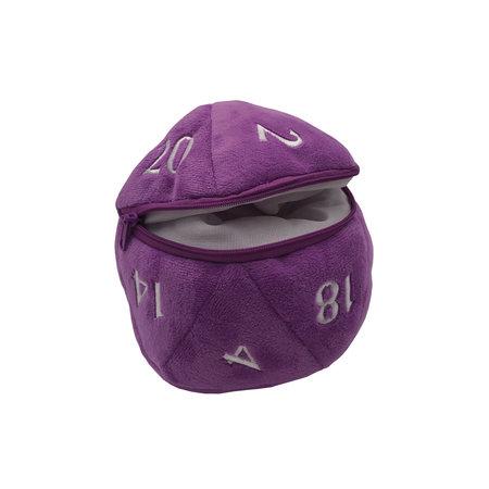 D20 Plush Dice Bag - Purple