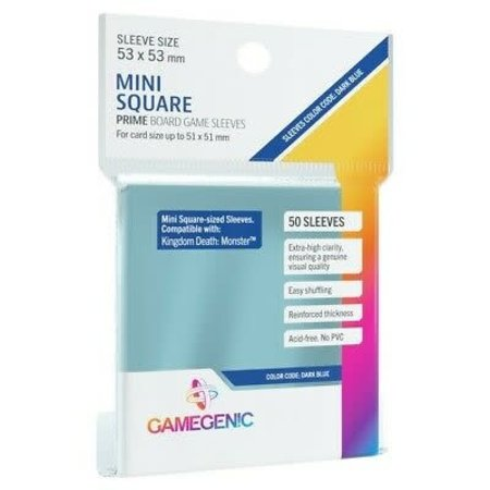 Gamegenic - 53mm X 53mm Mini Square Prime Board Game Sleeves 50 ct.