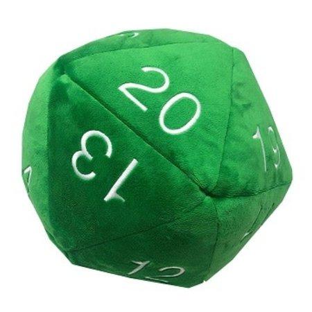 "Plush Jumbo 10"" D20 - Green w/ White"