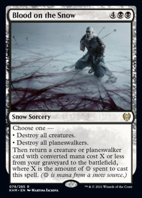 Blood on the Snow - Foil