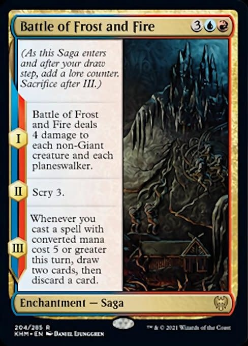 Battle of Frost and Fire - Foil