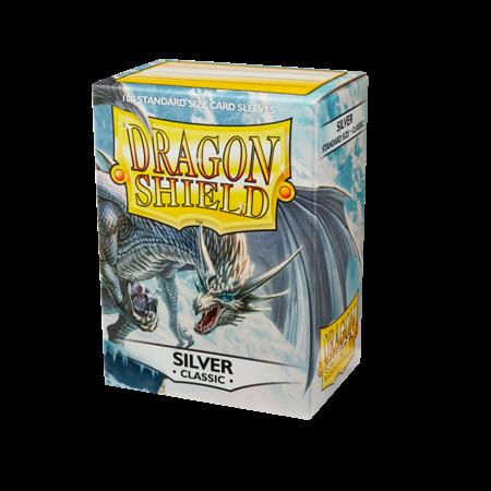 Dragon Shield - 63mm X 88mm Standard Classic - Silver 100 ct.