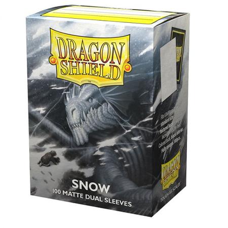 Dragon Shield - 63mm X 88mm Standard Dual Matte - Snow 100 ct.
