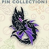 "2"" Pin - Baby Black Dragon"